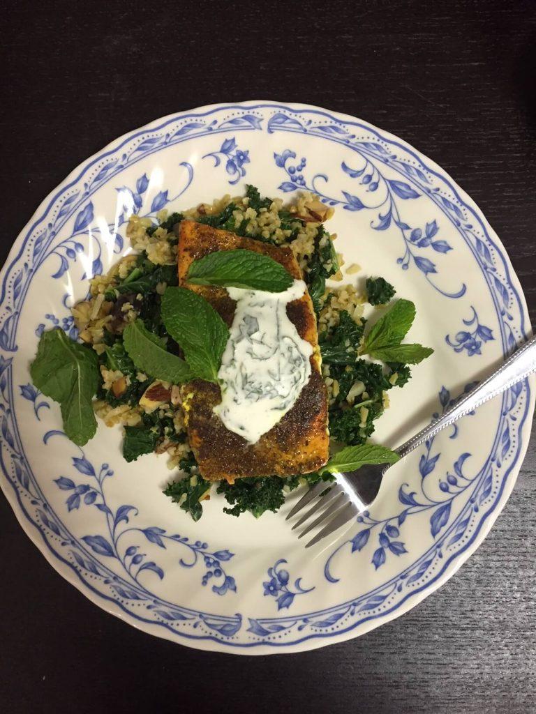 Sumac-Spiced Salmon & Labneh